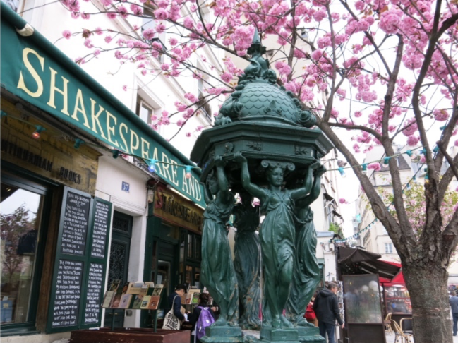 Shakespeare and Co Spring