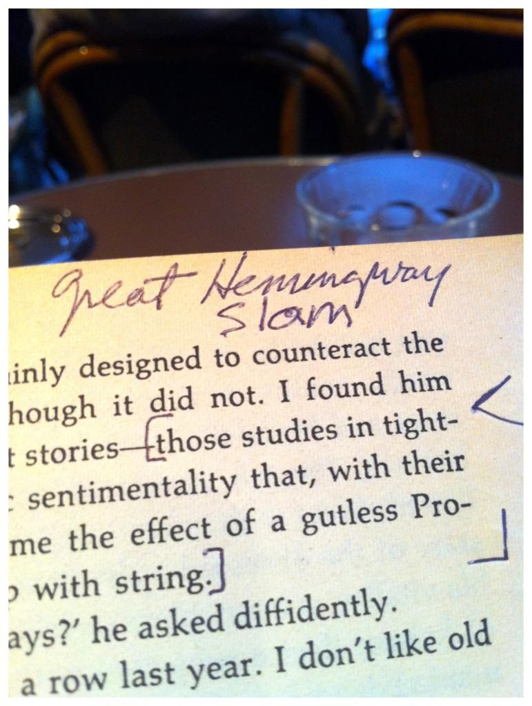 Hemingway Slam 3