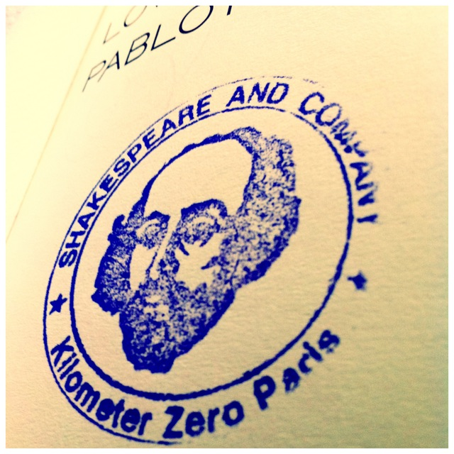 Shakespeare & Co Stamp