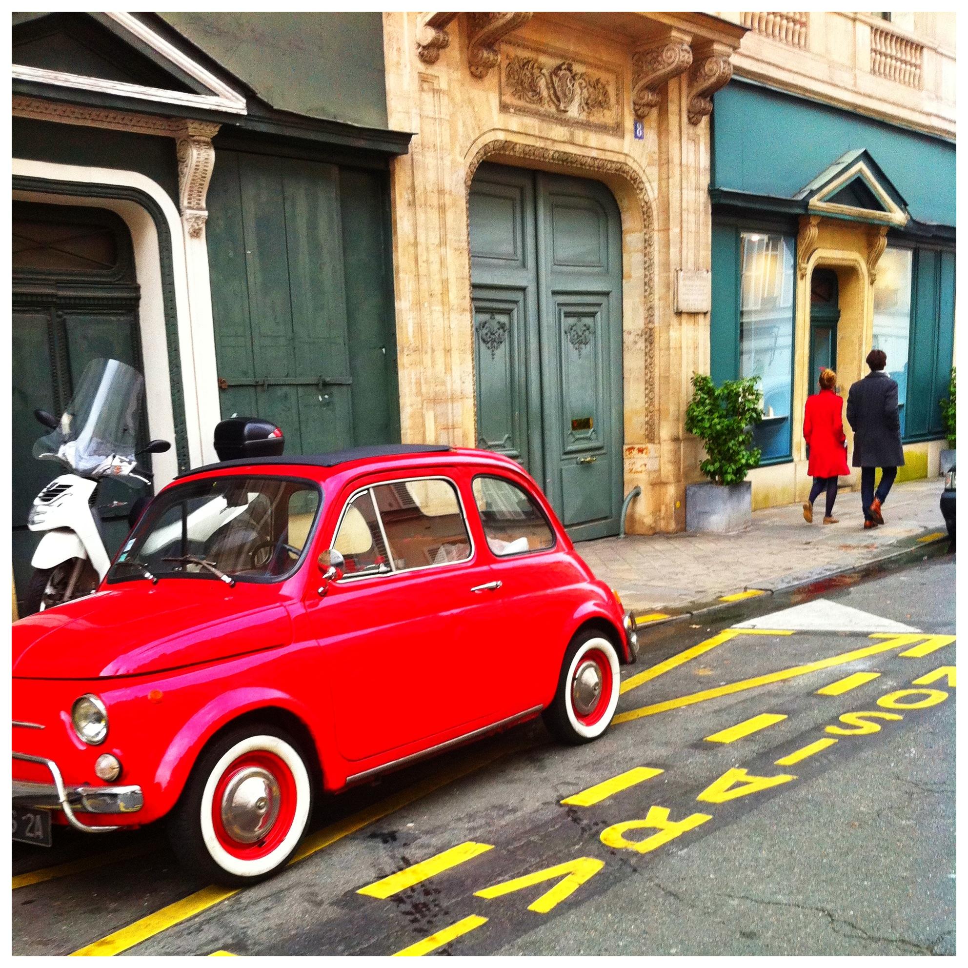 Red Car Blue Door Paris