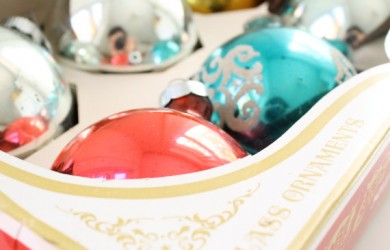Vintage Holiday Ornaments from Etsy