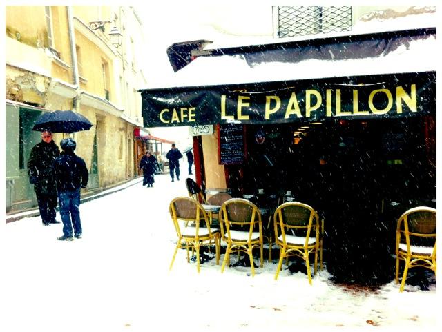 Le Papillon in snow