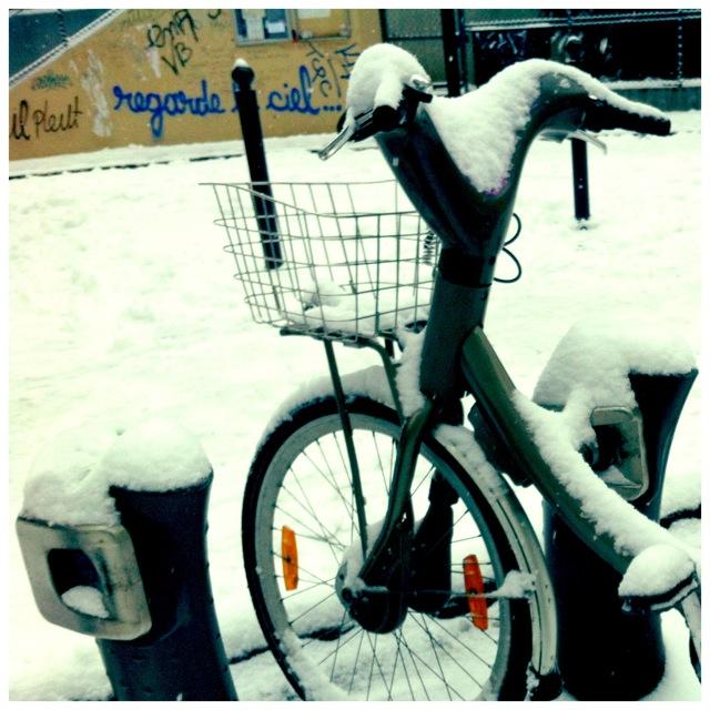 Velib snow