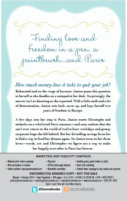 Paris Letter Back Cover Advance Copy
