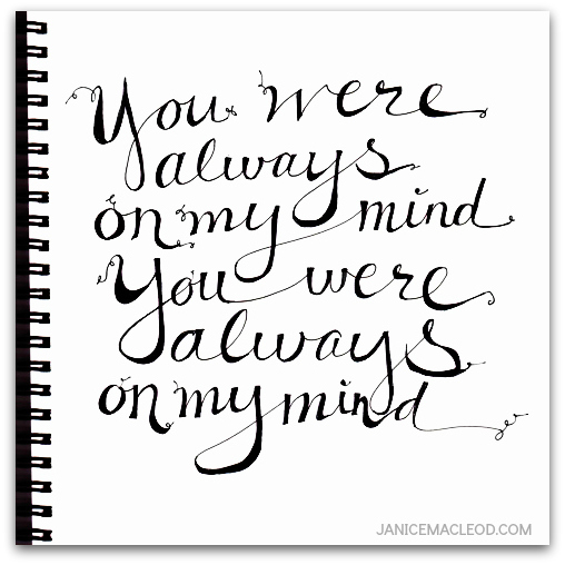 You were always on my mind 3