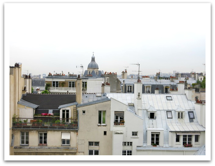 paris breakfast rooftop