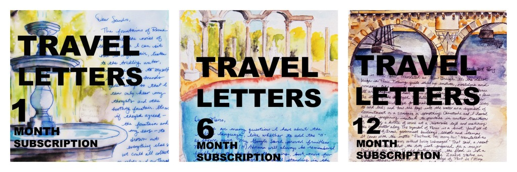 Travel Letter Collage