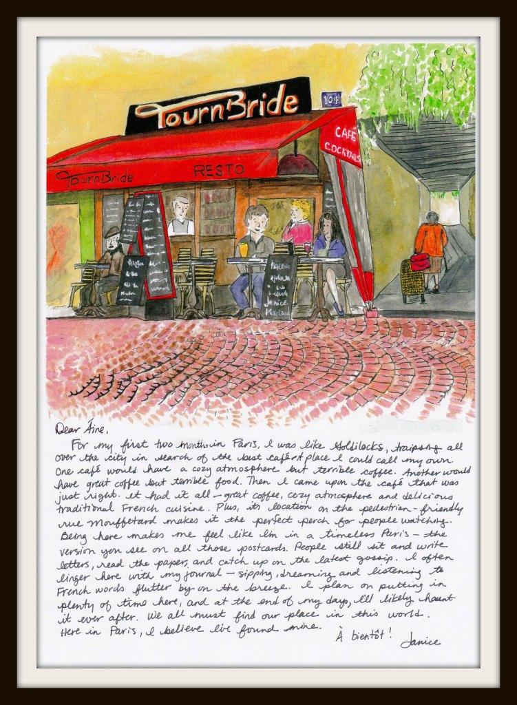 TournBride Framed Paris Letter