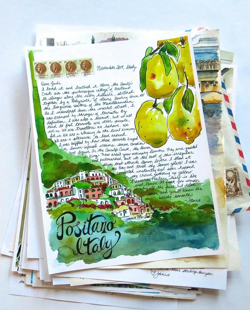 Positano Travel Letter Etsy