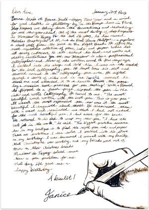 Paris Letter Calligraphy
