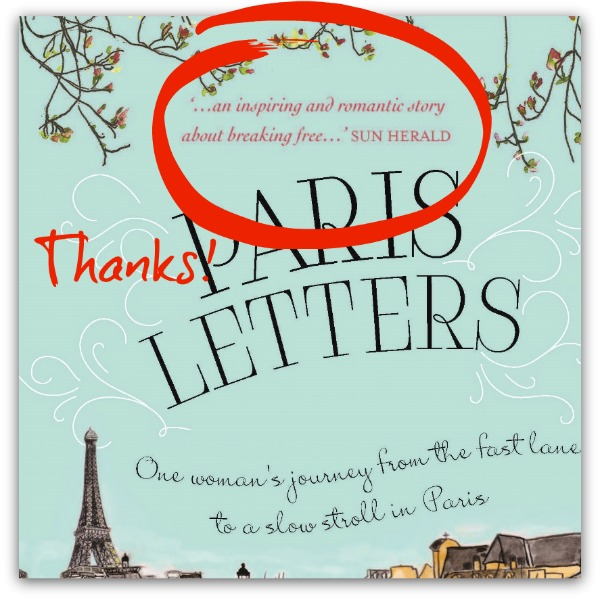 Paris Letters Australia Quote