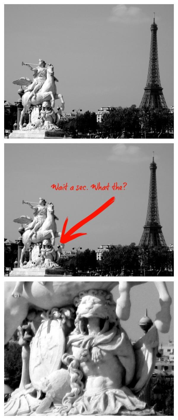Weird Statue Collage