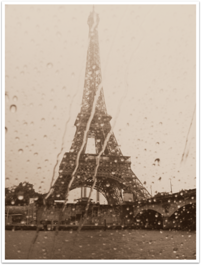 Eiffel Tower Sepia