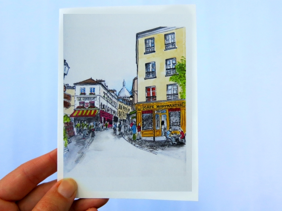 Note Cards: Montmartre