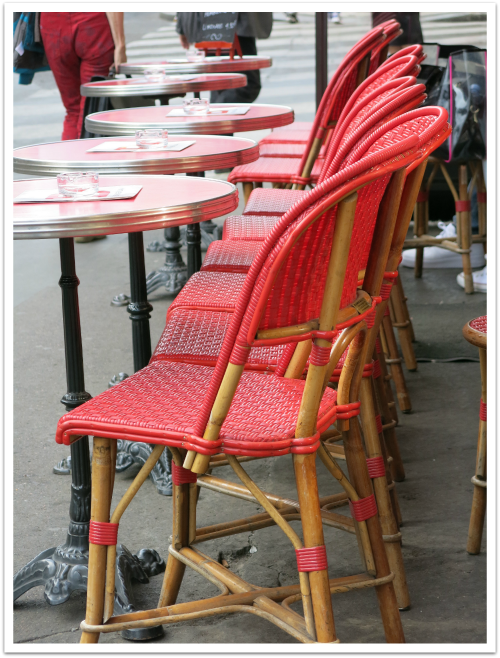 paris red bistro chairs sm