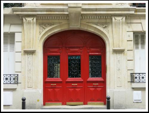 paris red fireman door