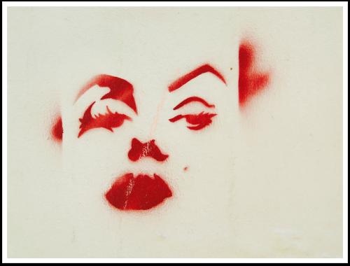 paris red graffiti face