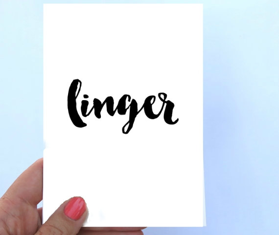 linger note cards janice macleod