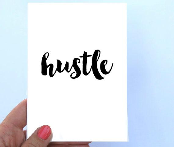 hustle note card janice macleod