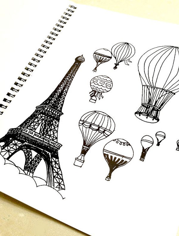 Eiffel Tower Colouring Book