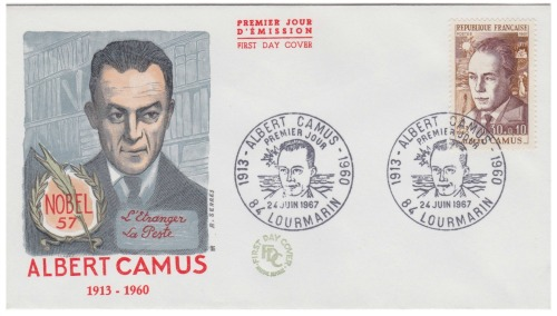 Albert Camus first day cover france