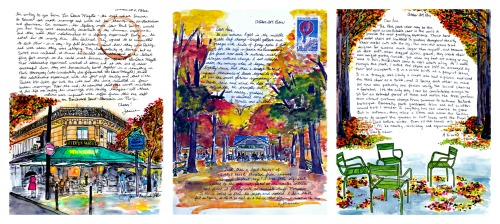 October Letter Collage