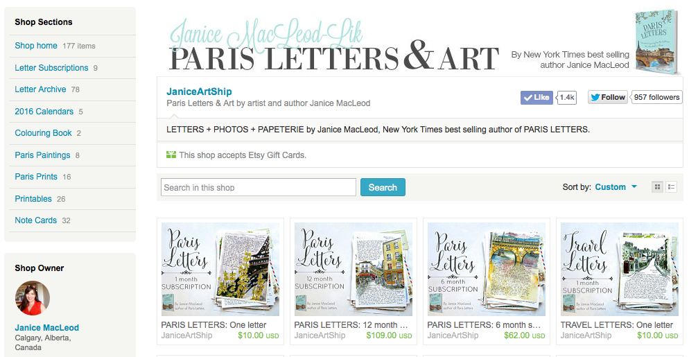 Paris Letters & Art