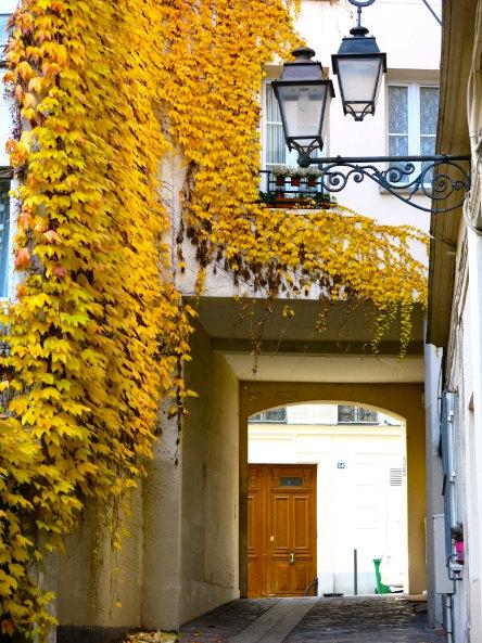autumn in paris alley