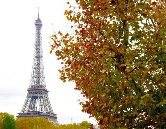 eiffel tower in autumn 1