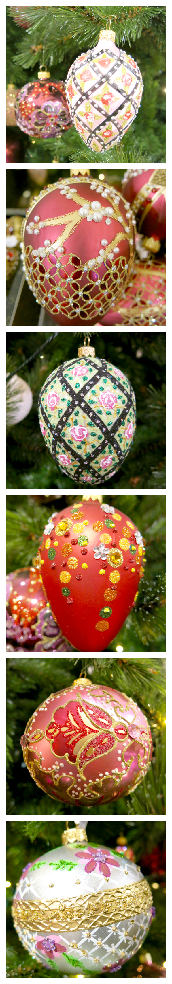 Faberge egg ornament collage