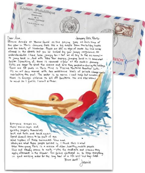 Paris Letter Swimming 3