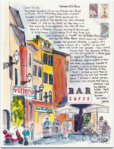 Travel Letter December  2015 Rome Cafe SM