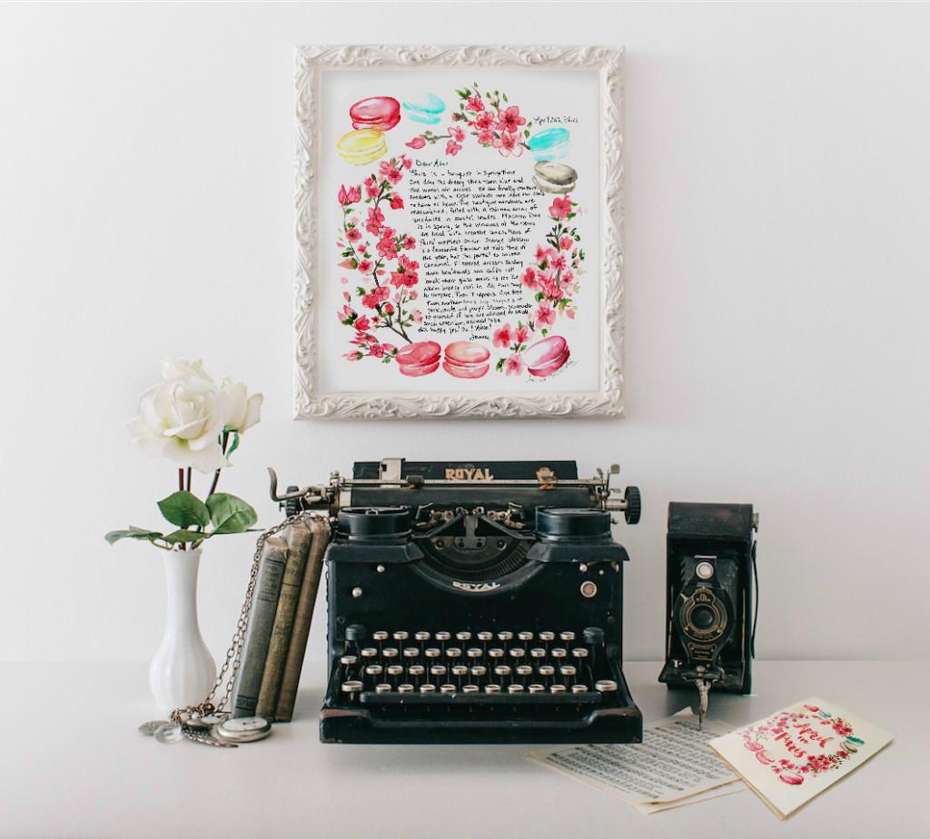 April Paris Letter Macaron