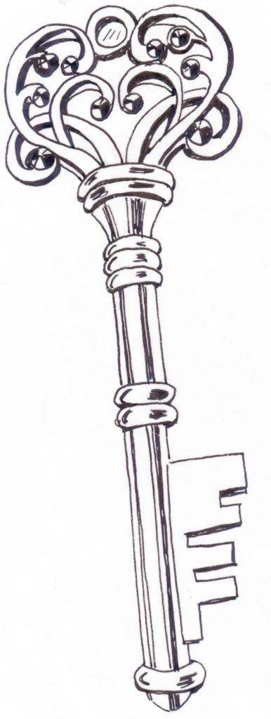 Paris Key coloring page