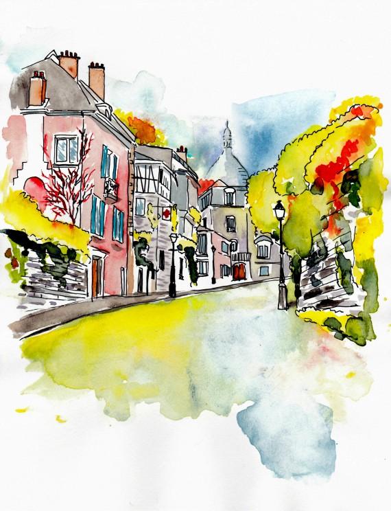 Montmartre autumn painting 2017 570